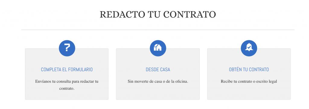 Redacción de contatos online.