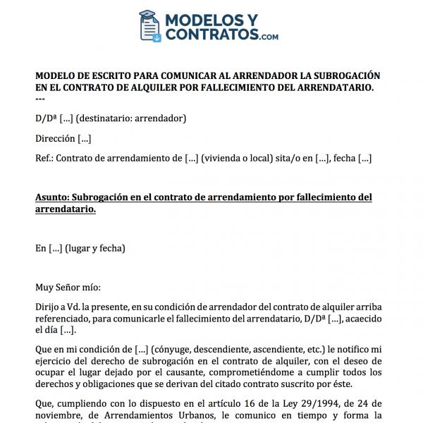 modelo-subrogacion-contrato-alquiler-fallecimiento-inquilino